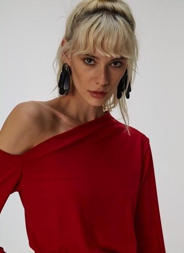 People By Fabrika Tek Omuzlu Bluz Kırmızı